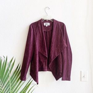 bb dakota / Wade Burgundy Suede Jacket XS